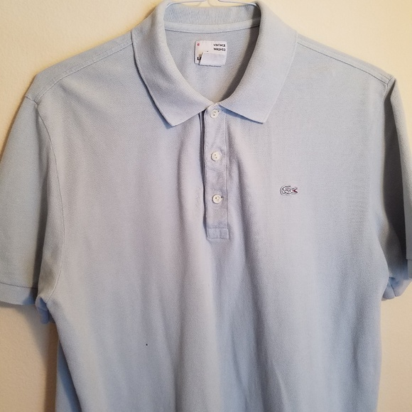 73498c0acb7bb Lacoste Light Blue Collared Polo Shirt